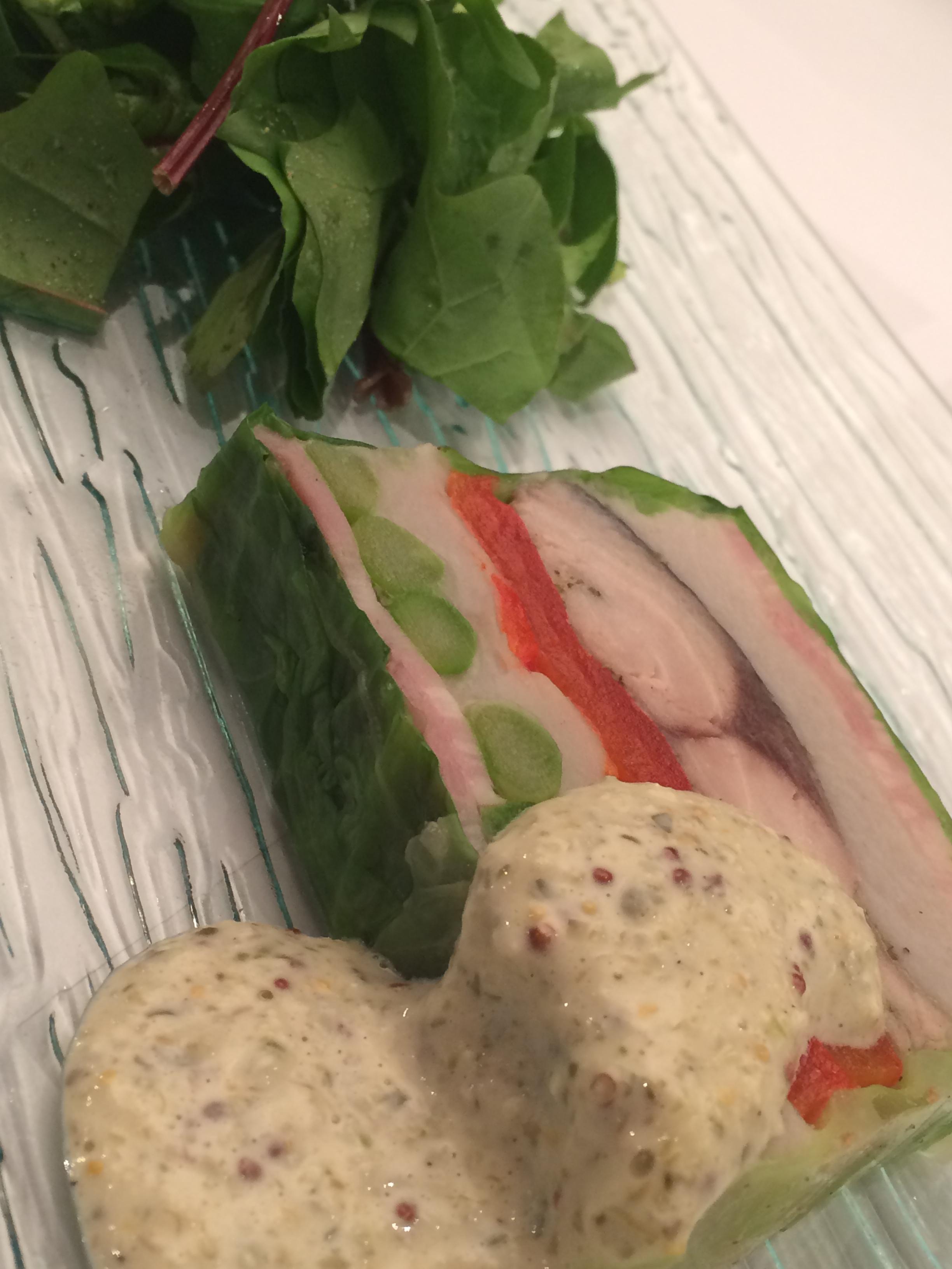 調布野菜と三宅島のムロアジのテリーヌ